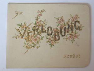 Verlobung, Blumen,    1900, Klappkarte ♥ (64615)