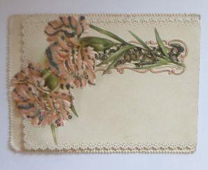 Verlobung, Nelken, Jugendstil,   1900, Klappkarte ♥ (64614)