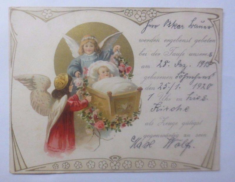 Taufe, Engel, Schutzengel,   1919 ♥  (62339)