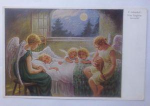 Schutzengel, Engel,   Von Englein Bewacht  1910, F. Schenkel  ♥  (62330)