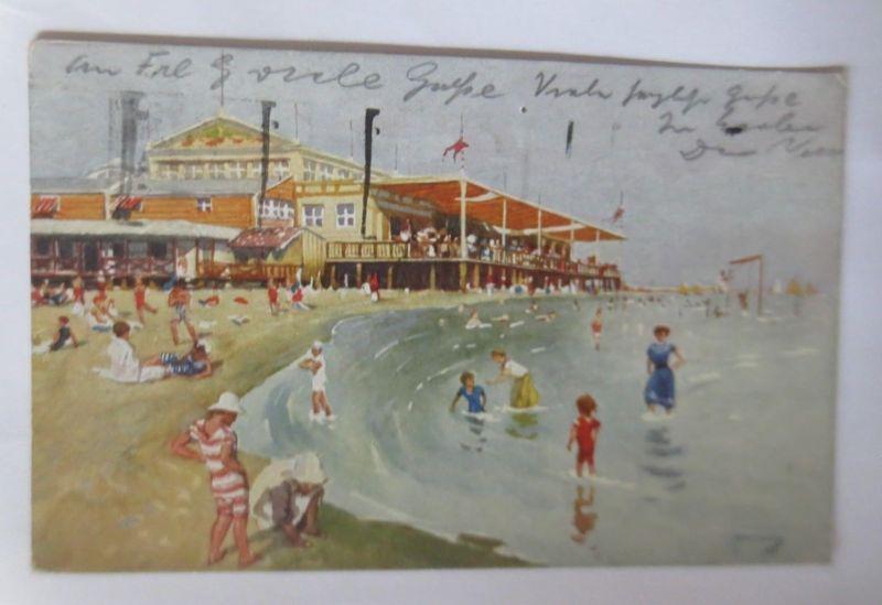 Bademode, Lido Venezia, Spiaggia Grande Stabilimento Bagni, Italien,1924♥(47778)