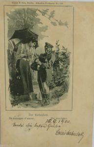 Deutscher Soldat mit Blindgänger, Fotokarte mit Text (2073)