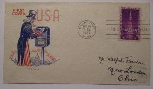 Geschichte 2.Weltkrieg WW 2, Uncle Sam Patriotic Cover 1942 USA (57211)