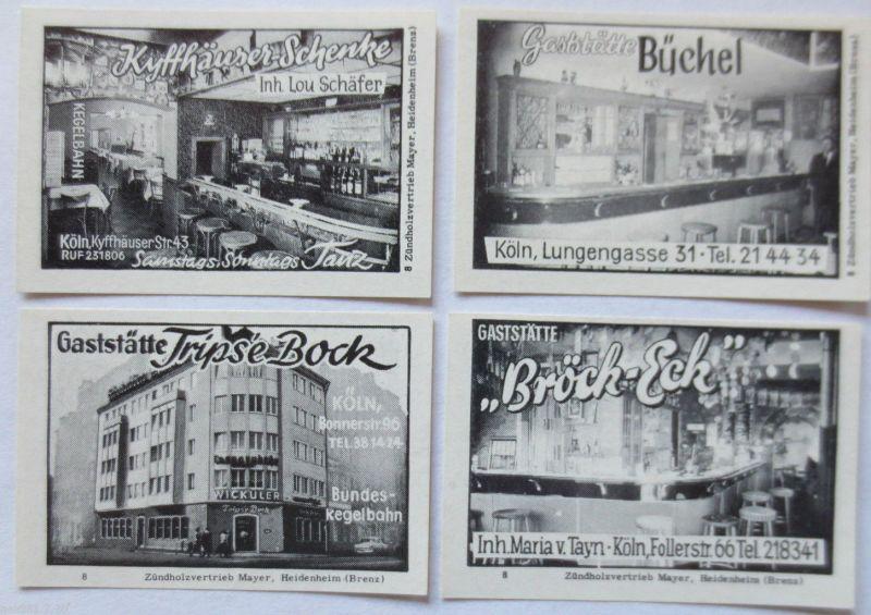 Köln - Cöln, 4 ungebrauchte Vignetten