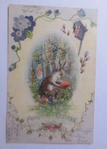 Ostern, Hasen, Osterei aus Liebe, Zwerge, Vogel,    1900  ♥  (62614)