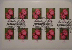 Bundesrepublik Folienblatt 8 Kartäusernelke ESST (39989)