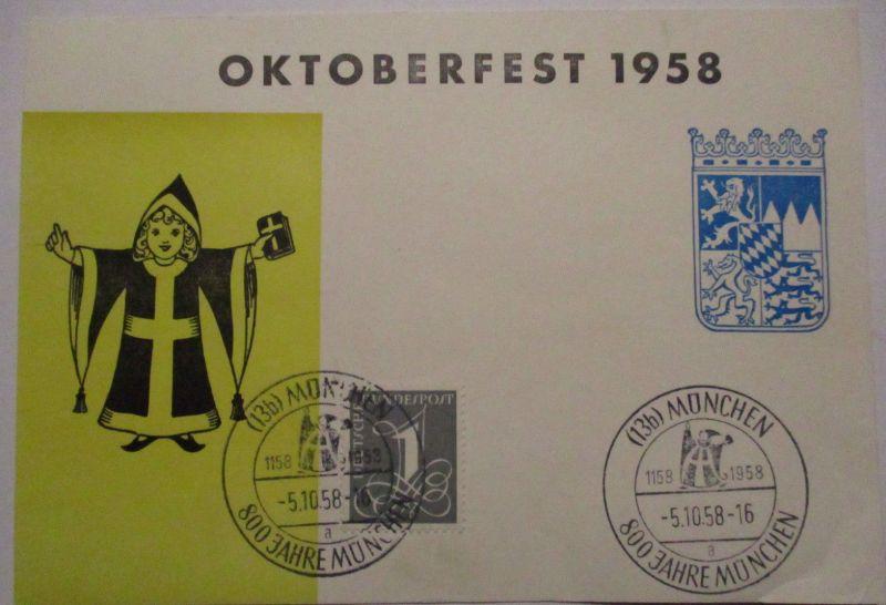 München Oktoberfest 1958 Sonderkarte (57172)