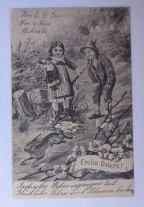 Ostern, Kinder, Puppe, Hase, Eier,  1907  ♥ (62930)