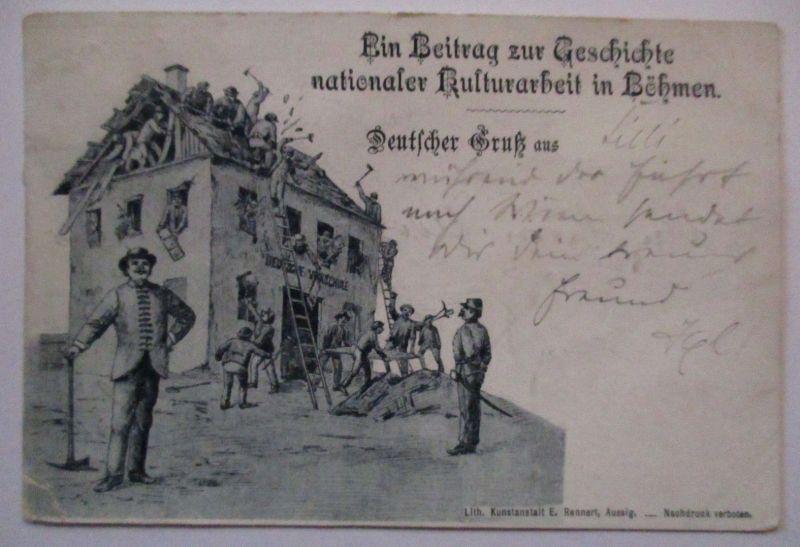 Österreich Tschechien, Nationale Kulturarbeit in Böhmen 1897 (31041)