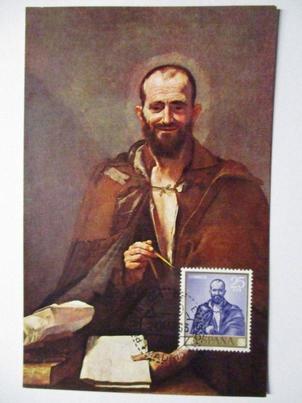 Spanien Maximumkarte  von 1963 Kunst Maler Ribera (10786)