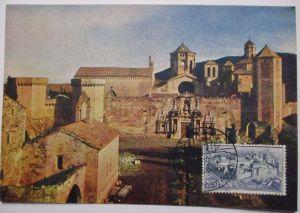 Spanien Maximumkarte  von 1963 Städte Gebäude Monasterio de Poblet (36206)
