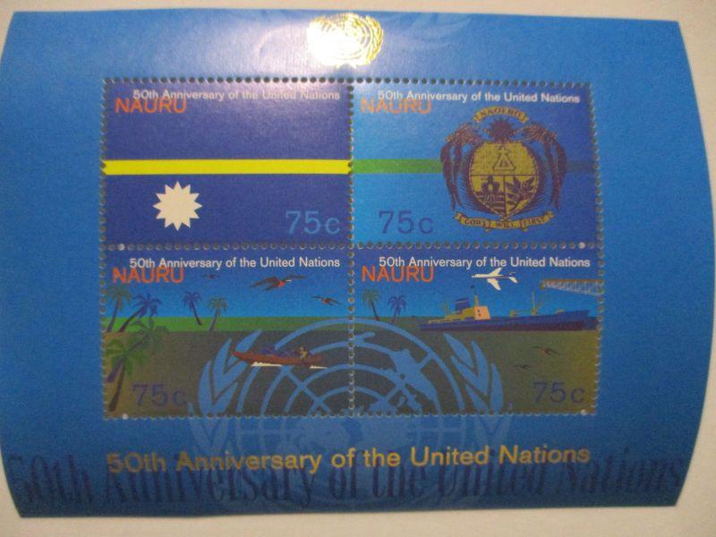Nauru, 50 Jahre UN Block postfrisch (57180)