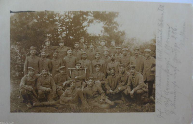 Frankreich, Soldaten 18. Reserve Armeekorps, Art. MK, Feldpost 1915 (26612)