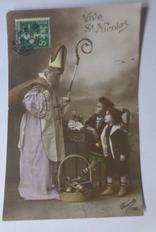 Weihnachten, St. Nikolaus, Kinder, Spielzeug,  1912 ♥ (65490)