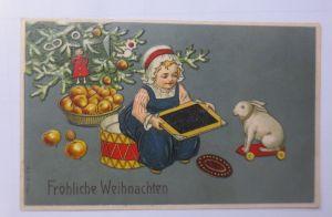 Weihnachten, Kinder, Mode, Spielzeug, Weihnachtsbaum, 1911, Prägekarte ♥ (65483)