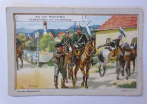 Kaufmannsbilder, Aus dem Manöverleben, Serie 416, Nr.1 ♥ (63975)