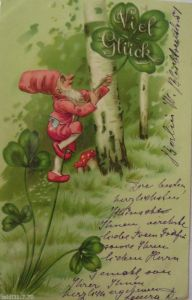 Glückwunschkärtchen, Neujahr, Blumen,   1900  ♥ (17108)