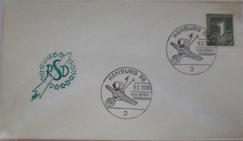 Raumfahrt, Weltraum, US Mond-Programm, SST Hamburg 1964 (21962)