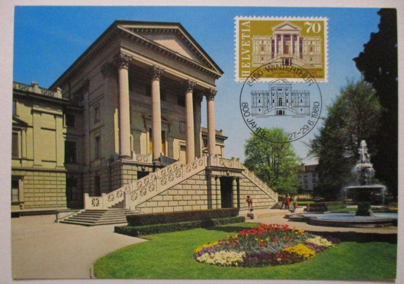 Schweiz, Maximumkarte Winterthur 1980 (46993)