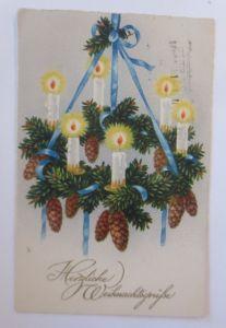 Weihnachten, Adventskranz, Kerzen,     1928, Meissner & Buch ♥ (65268)