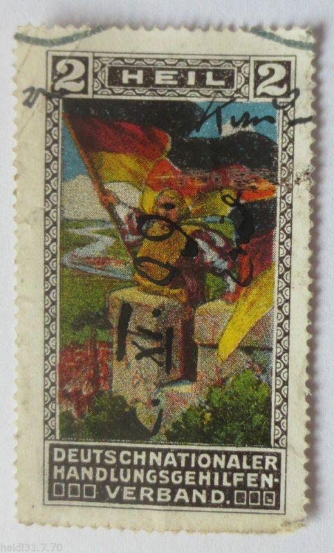 D.Reich, Deutschnationaler Handlungsgehilfen Verband, Vignette ca. 1900 (4358)