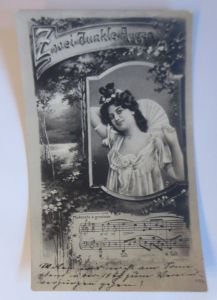 Lied,  Zwei dunkle Augen, Frauen, Mode,  1906  ♥ (64719)