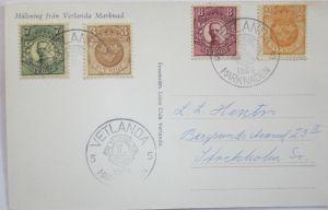 Schweden, Vetlanda Lions Club 1964 Sonderkarte (19203)
