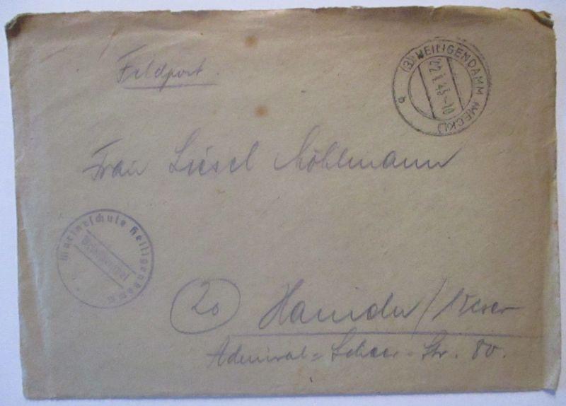 Heiligendamm 1945, Marineschule, Feldpost mit Briefinhalt (63125)