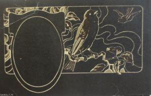 Jugendstil, original Maskenkarte, Druckmaske von ca. 1900, SELTEN (460) !!