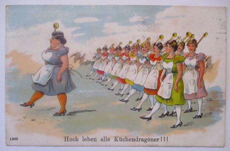 Frauen Küche, Hoch leben alle Küchendragoner 1916 (65900)