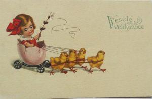 Neujahr, Frauen, Mode, Hutmode, Sekt,   1919 ♥ (14111)