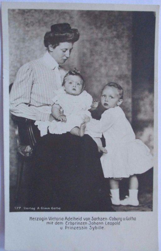 Sachsen, Coburg, Gotha, Herzogin Victoria Adelheid mit Kinder (28153)