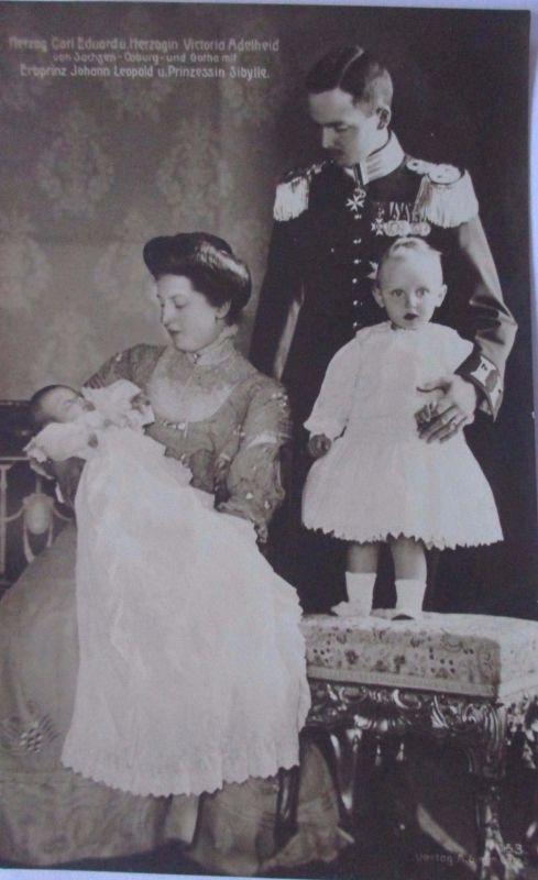 Sachsen, Coburg, Gotha, Herzog mit Familie (10115)