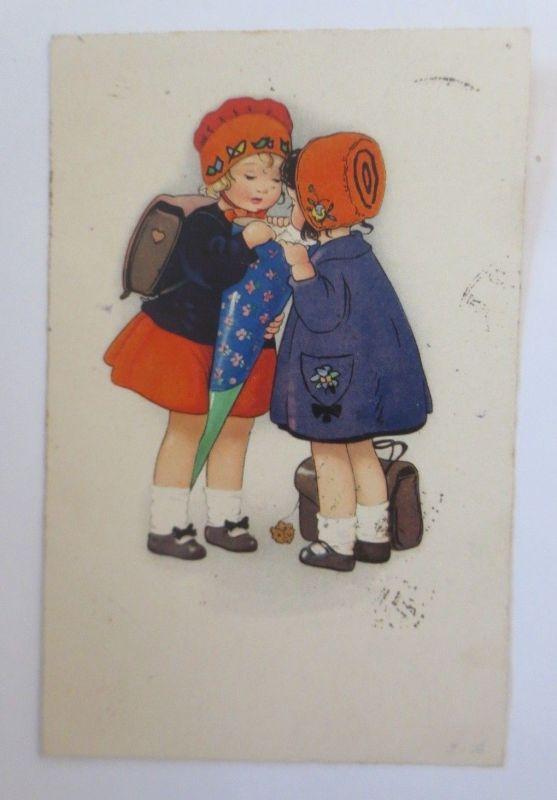 Kinder, Mode, Schultüte, Schule,    1926, Fritz Baumgarten ♥  (65341)