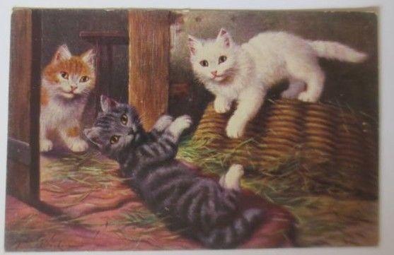 Katzen, Katzen, Korb,        1909 ♥ (2840)
