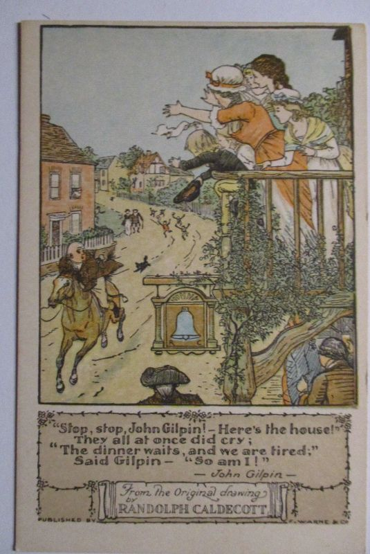 Künstlerkarte, Stop John Gilpin, sign. Randolph Caldecott (43864)