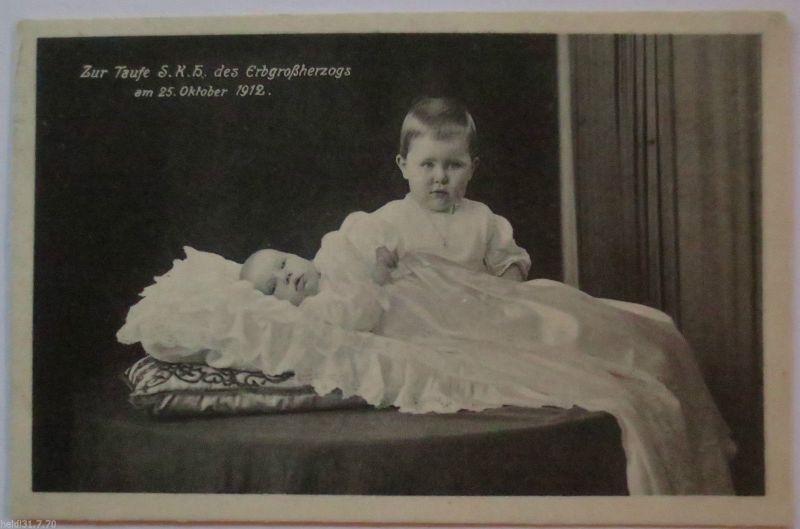 Sachsen, Taufe des Erbgroßherzogs am 26.10.1912 (11102)