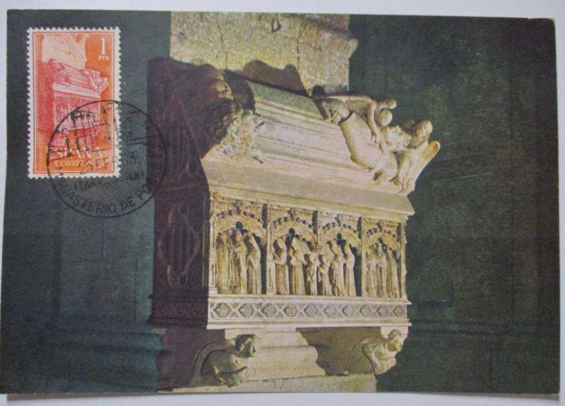 Spanien Maximumkarte  von 1963 Monasterio de Poblet (42572)