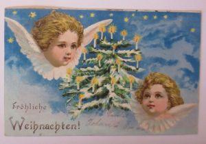 Weihnachten, Engel, Weihnachtsbaum, Kerzen, Sterne,   1904 ♥ (67128)