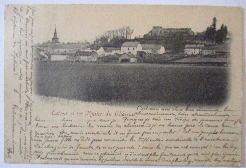 Frankreich, Latour et les Ruines du Chateau, 1899 (49597)