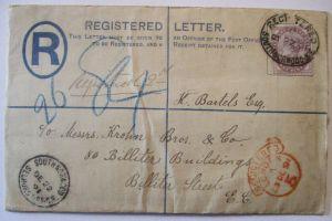 Großbritannien, Queen Victoria R-Ganzsache 1891 (62994)
