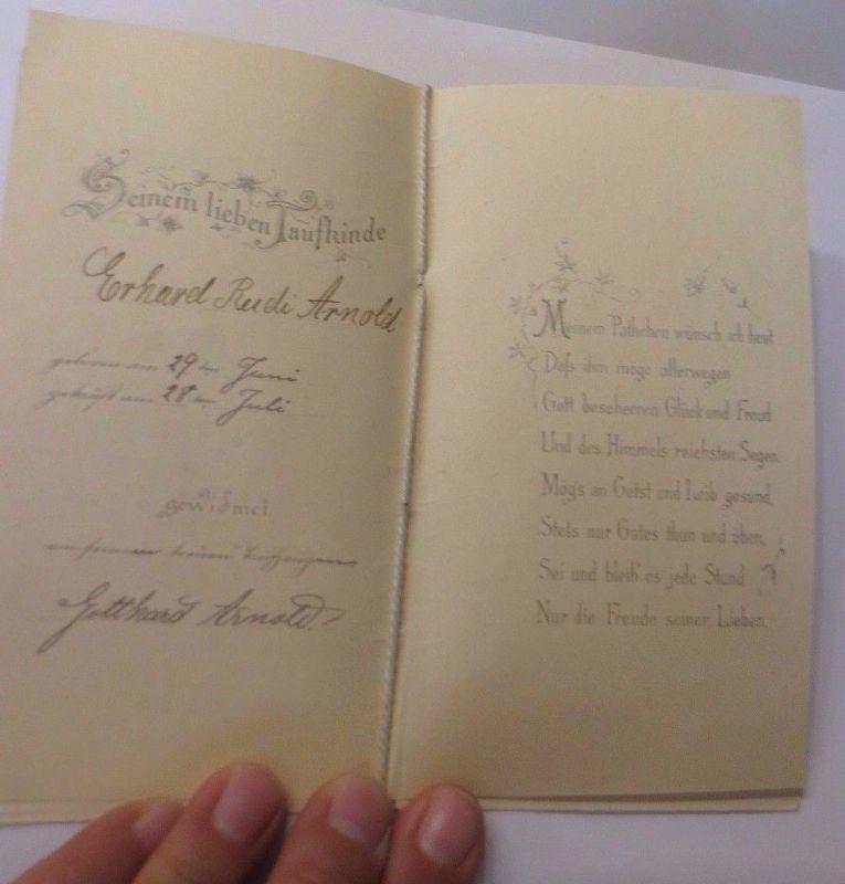 Geburt Taufe Engel Lilien 1899 Klappkarte 51540