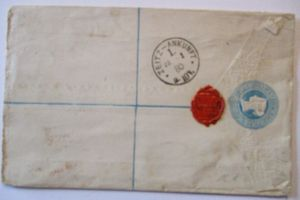 Großbritannien, Queen Victoria R-Ganzsache nach Merseburg (55861)