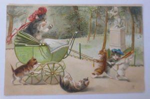 Weihnachten, Frauen, Männer, Mode, Muff,  1900, Munk Vienne  ♥  (65653)