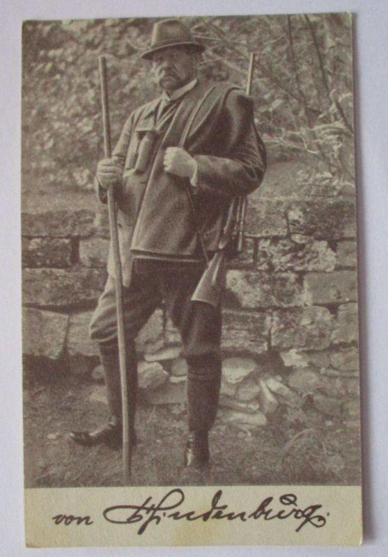 Reichspräsident Hindenburg in den bayer. Bergen 1923 als Jäger (37199)