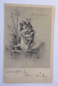 Ostern, Kinder, Mode, Hase, Korb, Eier,   1904  ♥ (67411)