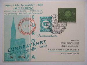 Europafahrt MS Europa Sonderkarte 1961 (11814)