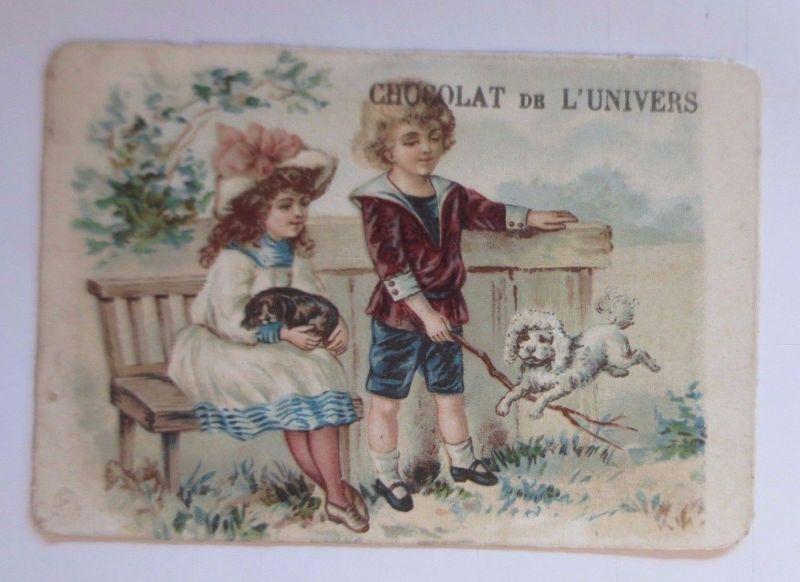 Kaufmannsbilder, Chocolat de l´Univers, Kinder,Mode, Hund,  1910 ♥ (63204)