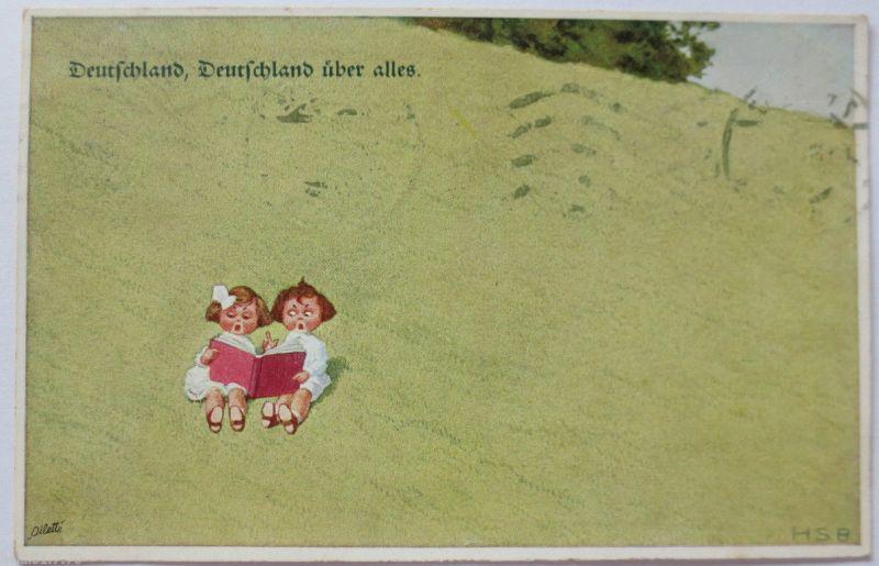 Deutschland über alles, Primus-Künsterkarte 1915 aus Wien (1509)