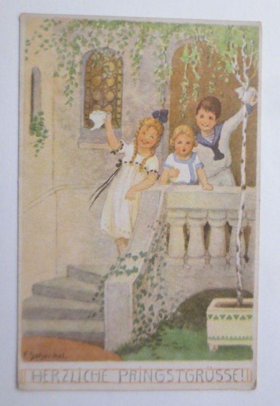Pfingsten, Kinder, Mode,  1920, F. Schenkel  ♥ (67658)